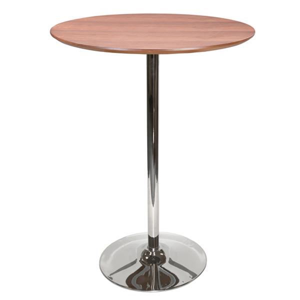 "32"" Round Walnut Bar Table with Tulip Base"