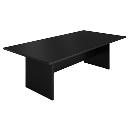 8′ Conference Table - Black