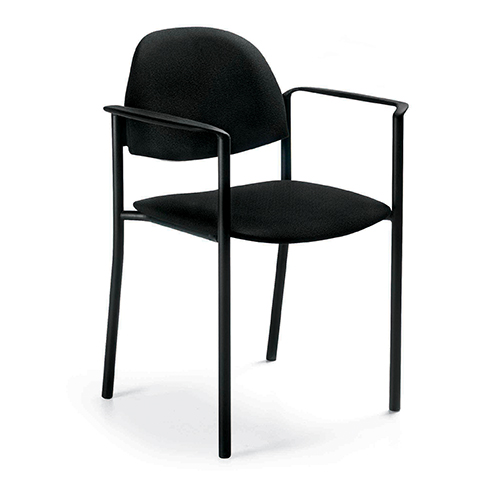 Comet Fabric Stack Chair with Arms
