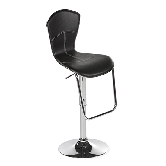 Hourglass Bar Stool - Black