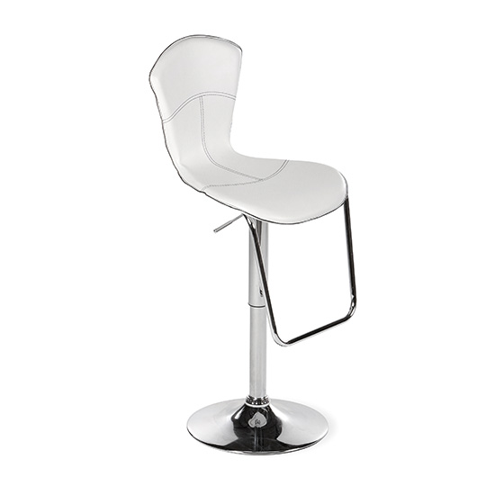 Hourglass Bar Stool - White