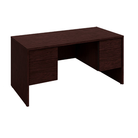 Jr. Executive Desk - Figured Mahogany
