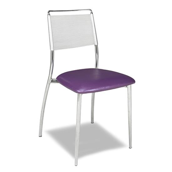 Silk Back Chair, Armless - Purple