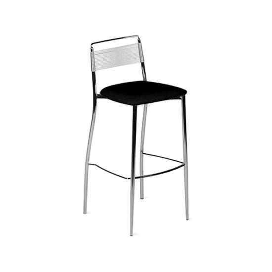 Silk Back Bar Stool - Black